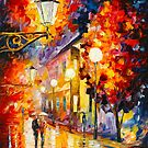 STROLL UNDER MOON by Leonid  Afremov
