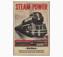 Steam Power Train Vintage Art Kids Clothes