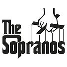 The Sopranos Logo (The Godfather mashup) (White) by Aguvagu