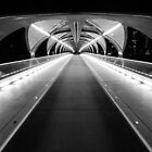 Light Tunnel in B&W by MichaelJP