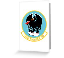 194th Fighter Squadron Greeting Card
