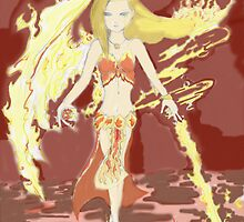 Flame Sorceress by silentsunlight