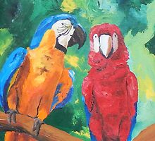Macaw Parrots Chatter Boxes - Vertical- iPhone iPad by PhoneCase