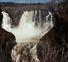 Rainbow Over Pigeon River Falls by Emily Rose