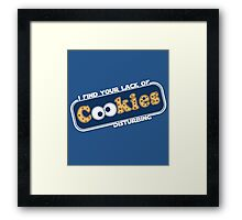 Lack of Cookies Framed Print