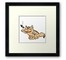 Kittenbus plays with totoro Framed Print