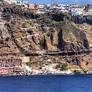 Cliffs of Santorini by Tom Gomez