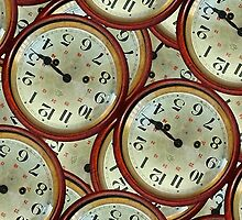 Vintage clocks pattern by DFLCreative