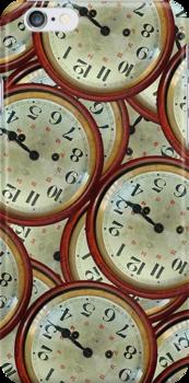 Vintage clocks pattern by DFLCreative
