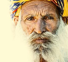 Rajasthan Elderly Man by instants