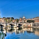 St Peter's and the Tiber by vivsworld