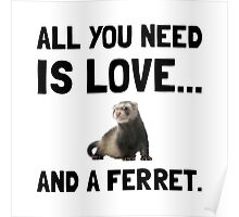 Love And A Ferret Poster