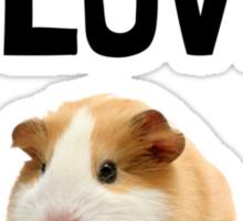 Love And A Guinea Pig Sticker