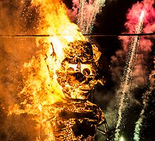 Zozobra Fire by IOBurque