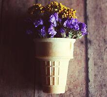 flower cone III by beverlylefevre