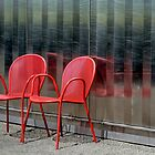 Red Chairs by Sue Morgan