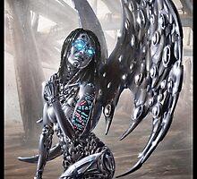 Cyberpunk Painting 022 by Ian Sokoliwski