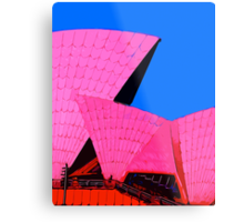 Tickled Pink Sydney Opera House Metal Print