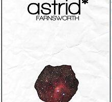 Fringe minimalist poster, Astrid Farnsworth by hannahnicole420