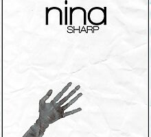 Fringe minimalist poster, Nina Sharp by hannahnicole420