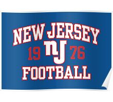 New Jersey Football Poster