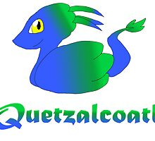 Cute Quetzalcoatl Blue by Mars714