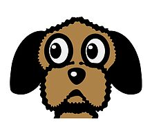dog funny cute curly by Motiv-Lady