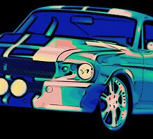 Shelby Mustang Pop Art by Florian Rodarte