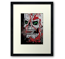 Skull with Blood Drips Framed Print