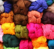 Colorful Yarn at the Market by rhamm