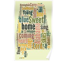 Sweet Home Alabama Map Typography Poster