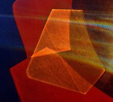 Cut glass in red-orange by elara