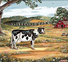 Springtime Farm by WildestArt