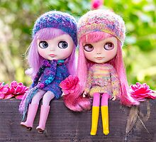 Best of friends: Blythe dolls in a spring garden by Zoe Power