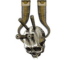 machine gun skull Photographic Print