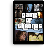 grand game of thrones  Canvas Print