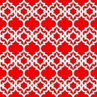 Lattice Stars in Red by House of  Jennifer