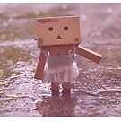 Danbo dancing in the rain by Prettyinpinks