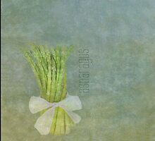 French Market Asparagus - Sage Green - Kitchen Art  by MScott-Photo