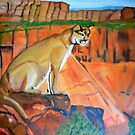 MOUNTAIN LION IN THOUGHT by JoAnnHayden