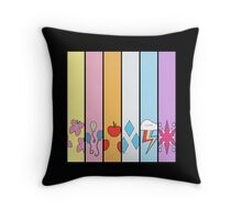Friendship is Magic - Cutie Mark Collection Throw Pillow