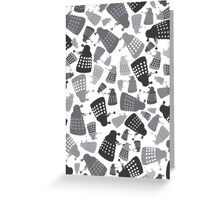 50 Shades of Grey Daleks - Doctor Who - DALEK Camouflage Greeting Card