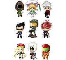 Chibi Gamers Set 1 Photographic Print