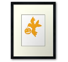 Pumpkin flying bird with wings Framed Print