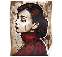 Audrey Hepburn Portrait Painting Watercolor Poster
