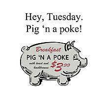 Pig 'n a Poke Photographic Print