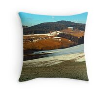 Scenic view below the Bohemian Forest | landscape photography Throw Pillow