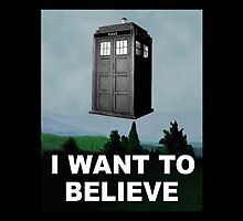 I Want to Believe ( Throw Pillow ) by PopCultFanatics