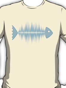 Music Fish Pulse Rate Frequency Dance House Techno Wave T-Shirt