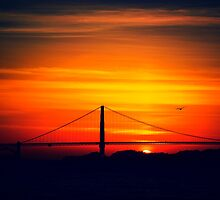 Golden Gate Sunset by Gingerhead